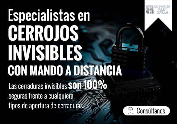 Especialistas Cerrojos invisibles con mando a distancia